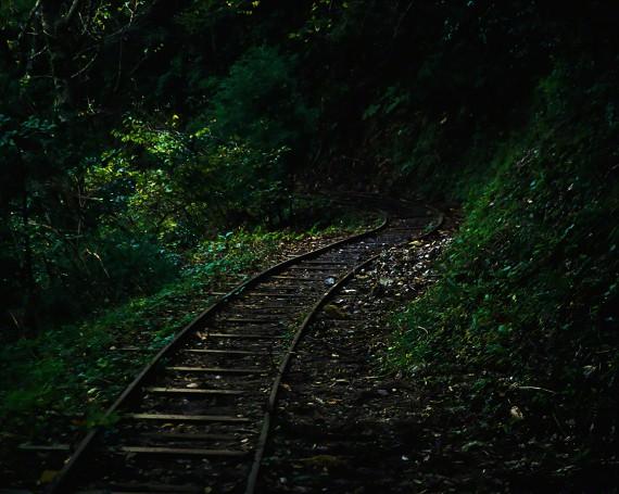 森の奥へ続く廃線